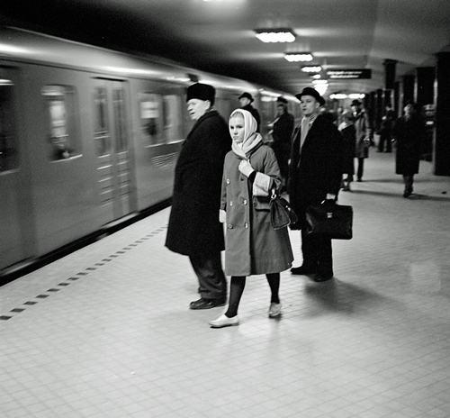 The subway station T-Centralen in Stockholm 1961
