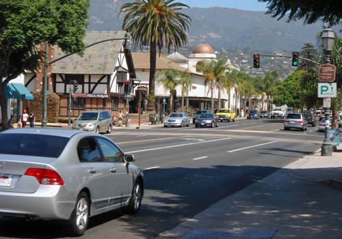 West Carillo Street in Santa Barbara, Calif.