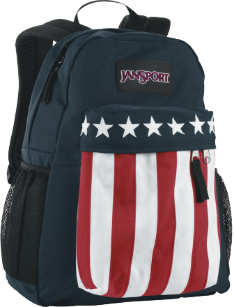 JanSport's Captain America backpack borrows its pattern from the film Easy Rider