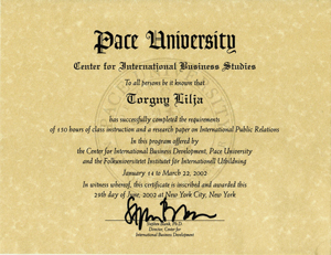 Pace diploma