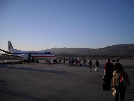 SAAB 340B aircraft at Santa Barbara domestic airport