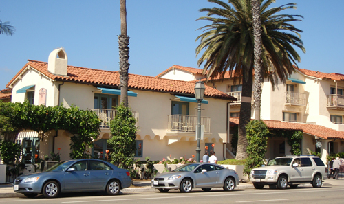 Cabrillo Blvd in Santa Barbara, Calif.