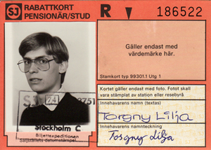 Torgny's ID for train transportation